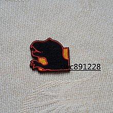 恐龍剪影布貼、燙貼布、小補丁、裝飾貼布、布飾--B347