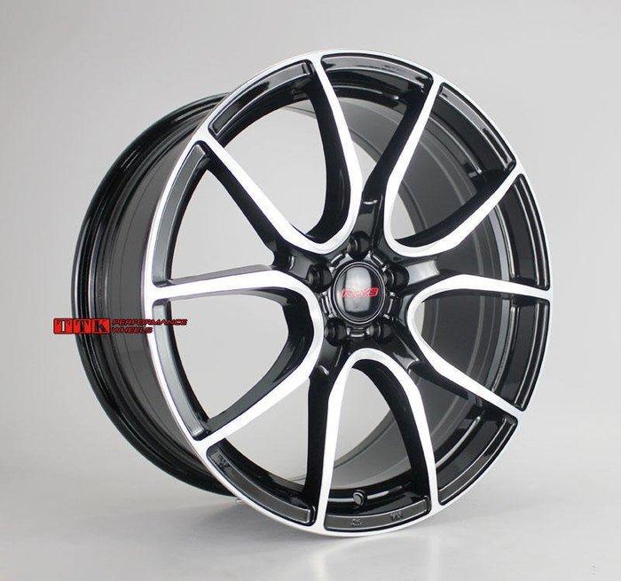【美麗輪胎舘】2019類RAYS最新款 特殊旋壓工法 18吋 5孔車系適用 8J 黑底車面 8.87KG