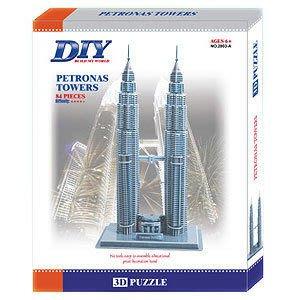 3D紙模型DIY立體拼圖  馬來西亞 吉隆坡 雙子星塔/雙星塔