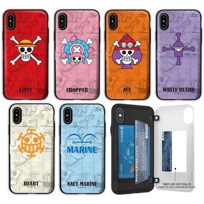 海賊王 防摔側開卡夾 手機殼│iPhone 6 6S 7 8 Plus│z9107