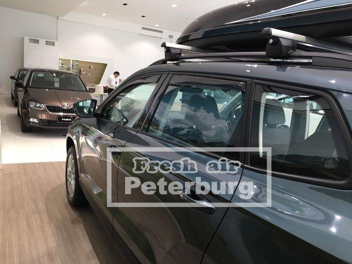 比德堡崁入式晴雨窗 斯哥達 SKODA KAROQ 2018年起專用 原廠品質 OEM正品 (前窗兩片價)