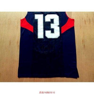 NBA US2008年北京奧運會 美國夢八# 13 克里斯-保羅  藍色 球迷版球衣-胖胖購物