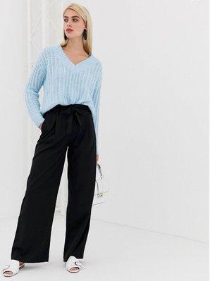Vero Moda trouser英國品牌 黑款 百搭 寬管長褲