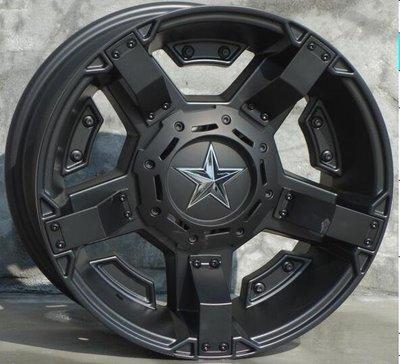 BLACK STAR品牌4X4精品JIMNY吉米專用鋁圈16吋5孔130~139.7 8J ET0中心孔95.3黑