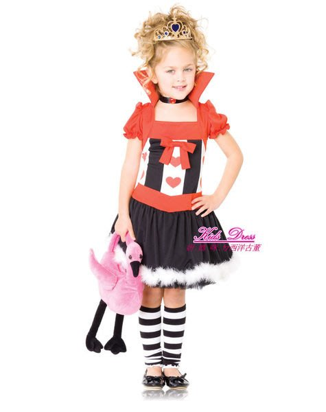 美國紅心皇后造型 Queen of Hearts愛麗絲夢遊仙境~萬聖節表演遊行~妍媽咪兒童禮服出租