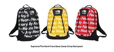 全新正品 美國 FW15 Supreme/TNF 聯名款 雙肩背包 BY ANY Means