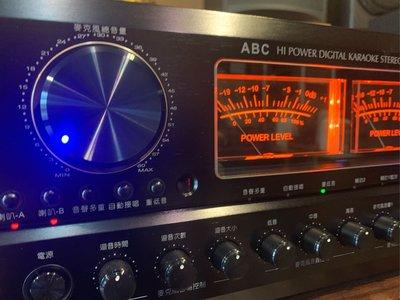 台灣製造最頂級A-8卡拉OK藍芽擴大機唱歌效果再進化數位回音最優美ABC卡拉OK專業A-8大功率380瓦採用歐美零組件超好唱也可以用來兩聲道聽音樂可來店試唱