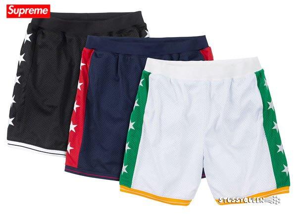 【超搶手】全新正品 2013 最新 Supreme Basketball Short 籃球褲 運動短褲 五芒星 黑 藍 白 S M L XL