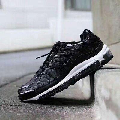 """Nike Air Max 97 Plus 全掌復古氣墊跑步鞋混合版 """"TN黑白""""AH8144-001 尺碼:39-45"""
