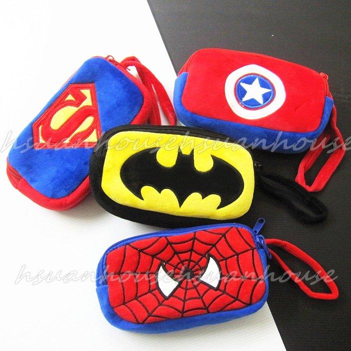 復仇者聯盟  蜘蛛人 蝙蝠俠 美國隊長 雙拉鏈 筆袋 化妝包 收納包 萬用包 手提包