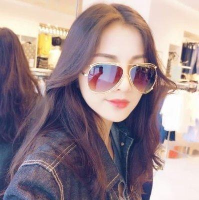 歐美時尚大牌 CHLOE' 同款墨鏡 雙圈造型 蛤膜鏡設計 小臉 高質感高質量享受 孫芸芸 薛妞妞款