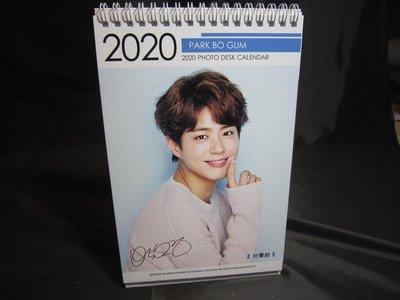 全新韓國進口【朴寶劍 2019 ~ 2020 桌曆】桌上型月曆 直立式照片 雙面 行事曆