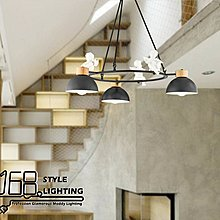 【168 Lighting】歡欣喜悅《木藝吊燈》(兩款)3燈GD 20240-2