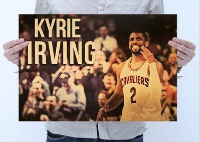 【貼貼屋】NBA 凱里歐文(Kyrie Irving)  籃球 季後賽 復古海報 牛皮紙海報 壁貼