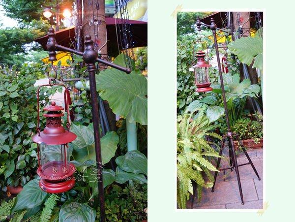 立地油燈--秘密花園--南法鄉村風鑄鐵立地式掛架提燈--出清價