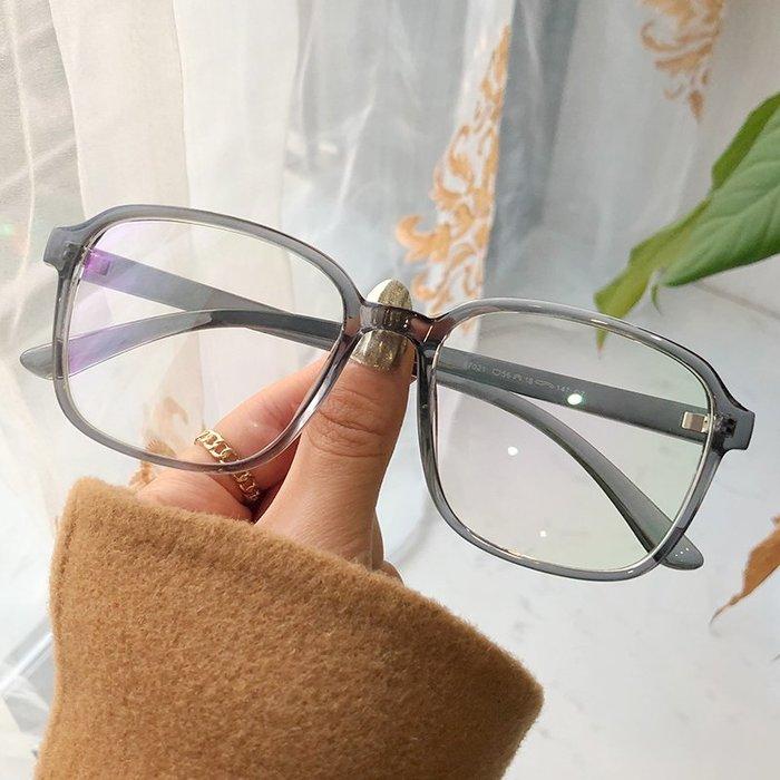 復古文藝透明大框防藍光近視眼鏡女素顏神器可配度數網紅款韓版潮