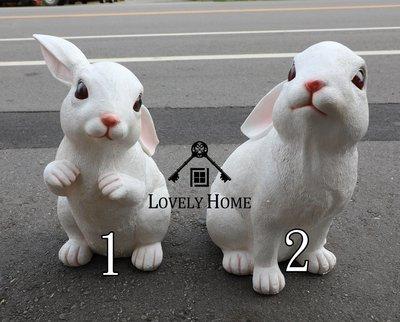 (台中 可愛小舖)田園鄉村風格-波麗製仿真雪白大眼睛兔子(大)波麗娃娃擺飾裝飾可愛兔子愛好者收藏童話動物風格