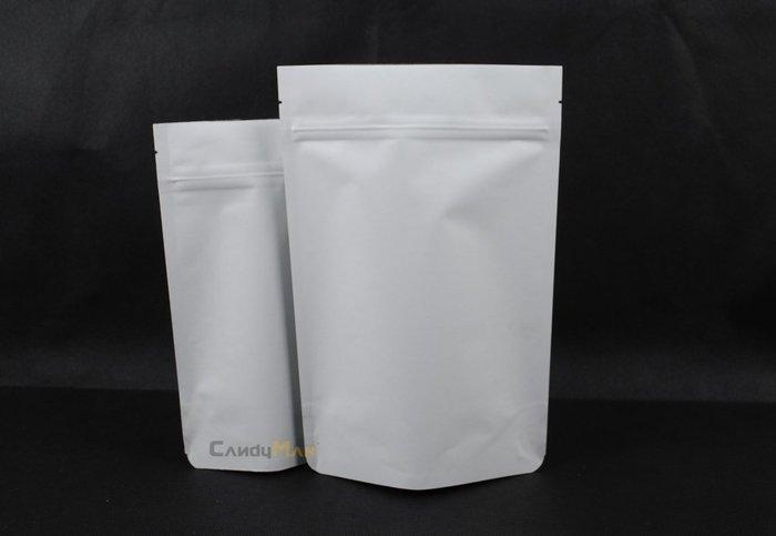 HBZ202 純白 白牛皮紙 1/2磅 專業咖啡袋 夾鏈站立袋 含瑞士單向排氣閥(100入)