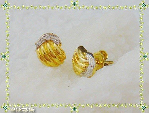 [萬商雲集] 新品特惠 12K金 流星雨 蘇聯鑽 耳環 造型輕巧大方~~送禮自用兩相宜~