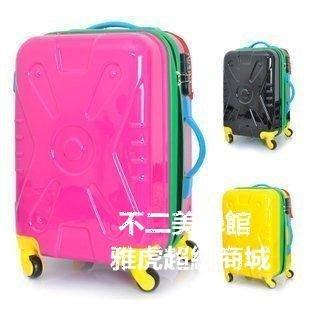 【格倫雅】^ 女撞色拉桿箱PC旅行箱包行李箱子登機箱萬向輪20 寸49393[g-l-y84
