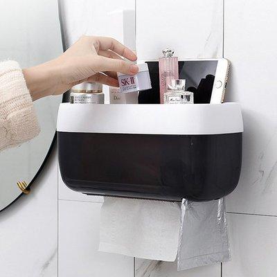 ☜shop go☞ 衛生紙 面紙盒 紙巾盒 手機架 置物架 收納架 免打孔 無痕 壁掛 廁所 壁掛式 紙巾盒【S017】