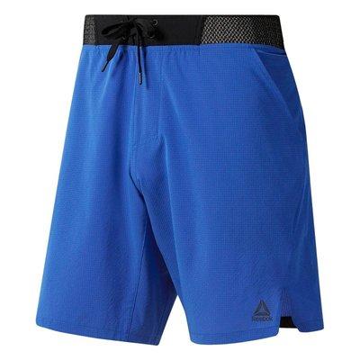 =CodE= REEBOK EPIC KNIT WAISTBAND SHORT 透氣運動短褲(藍)DU4335 訓練 男