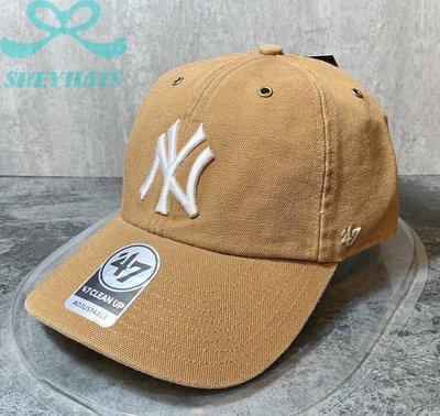 [SREY帽屋]現貨*47 Brand Carhartt 聯名 MLB 紐約洋基 經典LOGO 美國限定 棒球帽 老帽