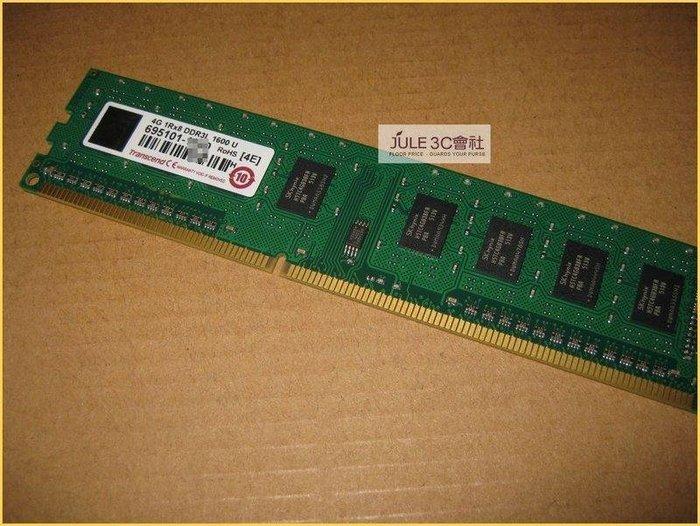 JULE 3C會社-創見 TS系列 DDR3L 1600 4GB 4G TS512MLK64W6H/低電壓/終保 記憶體