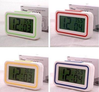【用心的店】LCD大屏報時鐘 電子鐘鬧鐘中文語音報時鐘數字床頭鐘/9905TD
