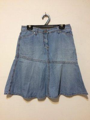 ❤夏莎shasa❤全新香港品牌ESPRIT淺藍色牛仔魚尾短裙/1元起標