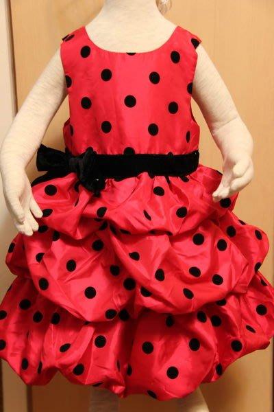 H&M 亮麗蝴蝶結糖果紅色洋裝
