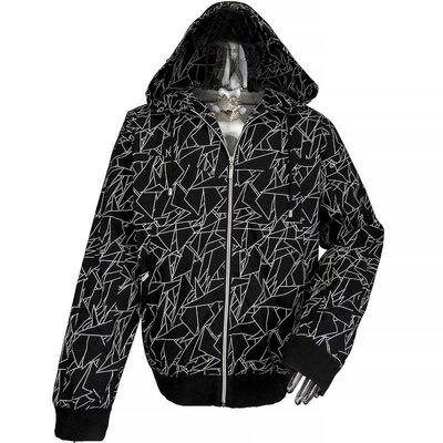 潮流品牌Sacrifice 防風網紗透氣黑色連帽外套 L號