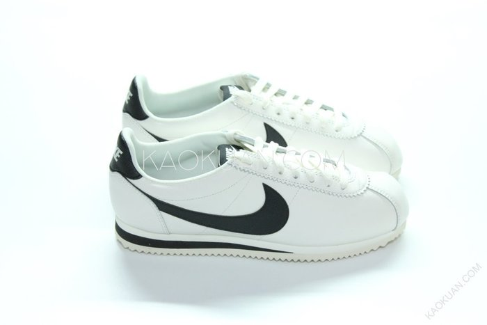 【高冠國際】Nike Classic Cortez Leather 復古 阿甘 皮革 米白 黑 861535 104