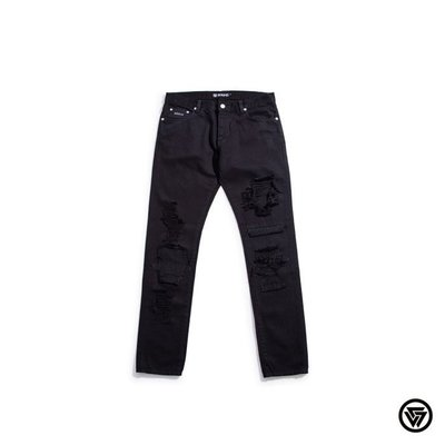 (MARVELOUS) SQUAD 2016 A/W embroidery damage Jeans 水洗電繡破壞長褲