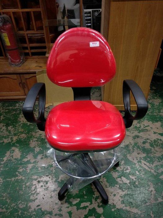 非凡二手家具 全新品 製圖專用椅(紅布/PU泡棉/扶手)*洽談椅*辦公椅*電腦椅
