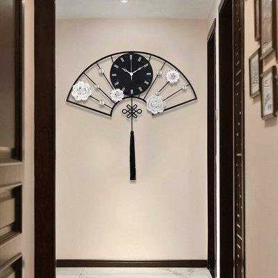 時鐘 掛鐘 掛鐘客廳家用藝術裝飾創意鐘表中國風大氣掛表簡約時尚靜音石英鐘