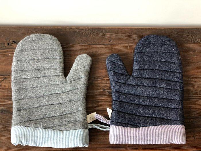 發現花園 日本選物- 日本製 studio m   可掛式  厚手  隔熱手套 ~ 灰色 / 紫色
