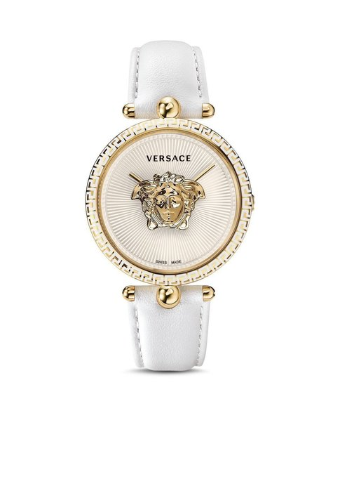 Coco小舖 Versace Palazzo Empire Leather Strap Watch 凡賽斯白色皮錶帶手錶
