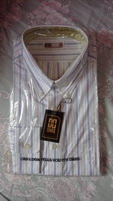 DAKS 條紋襯衫   領寬 42 CM, 16 1 2