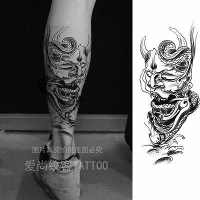 奇奇店-紋身貼鬼怪紋身貼紙 花臂刺青紋...