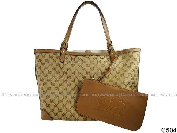 金鐸精品~C504 GUCCI 古馳 247209 CRAFT 卡其色織布編織提把織布 子母包 肩背包 購物包
