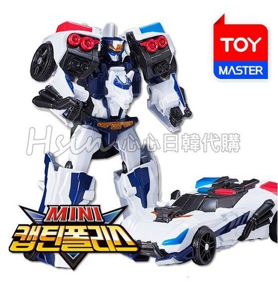 超取【Hsin】🇰🇷韓國代購正版機器戰士Tobot V 迷你CAPTAIN POLICE警察車 警車 變形機器人