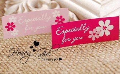 【蜜糖女孩】12枚粉色Especially for you小花花封口貼(婚禮小物 禮物貼紙 烘焙包裝opp袋)