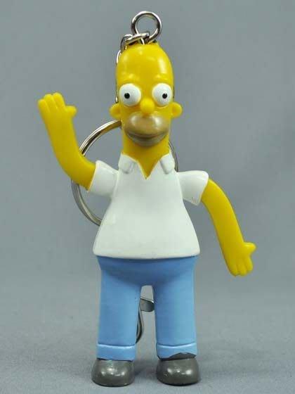 (I LOVE樂多)日本進口 辛普森家族Simpson 荷馬 Homer鑰匙圈 送人自用兩相宜