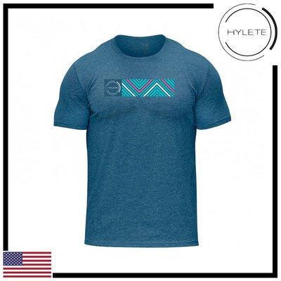 ►瘋狂金剛◄藍色 HYLETE camber tri-blend crew tee 柔軟 透氣 短袖T恤