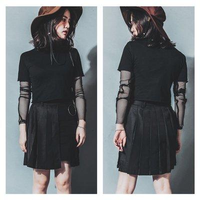 美國東村【Slightly Numb】HALF LOVE SKIRT 雙層 百褶 刺繡 短裙