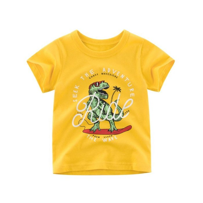 童裝 夏季新品boy t-shirt baby 恐龍 兒童  短袖 T恤 男寶寶衣服