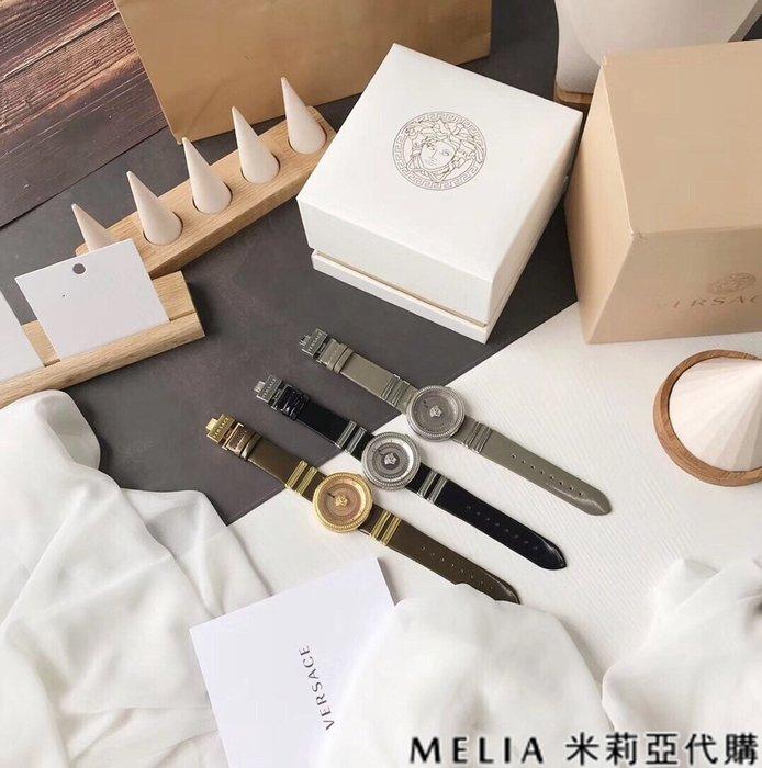 Melia 米莉亞代購 商城特價 數量有限 每日更新 VERSACE 瑞士石英錶 藍寶石玻璃鏡面 男女情侶款