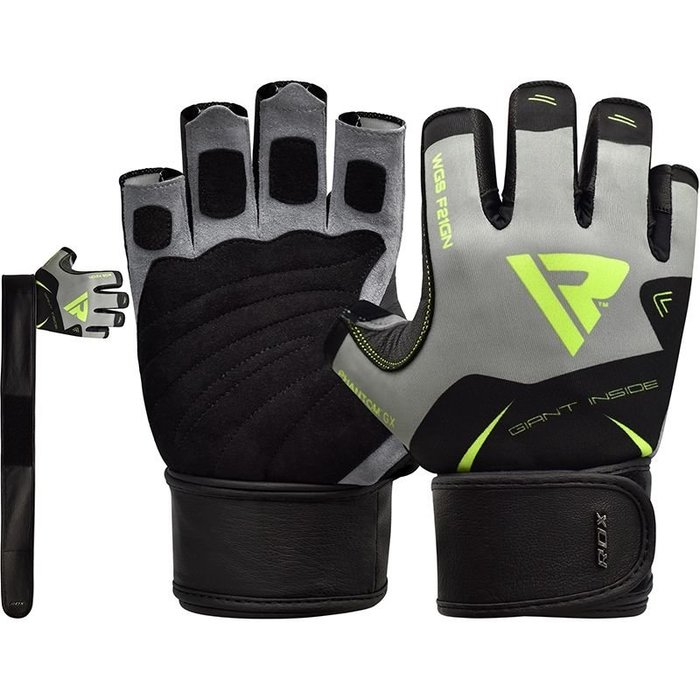 【線上體育】RDX GYM GLOVES SUMBLIMATION F21 GREEN RDX018