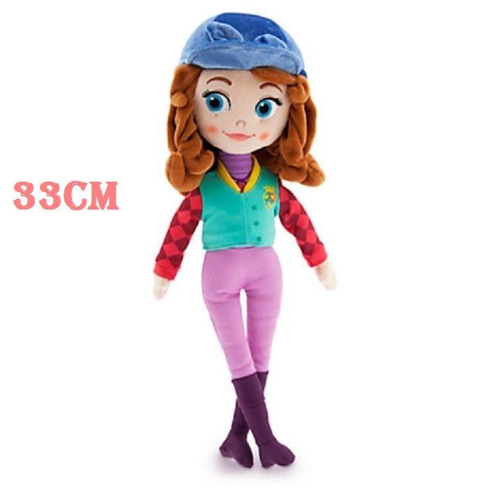 【美國大街】正品.美國迪士尼小公主蘇菲亞公主絨毛娃娃最佳陪睡娃娃蘇菲亞騎馬裝軟布手抱娃娃 13吋 / 33cm